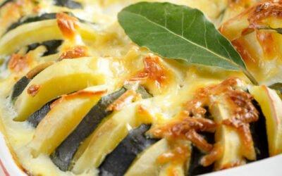 Kartoffel Zucchini Gratin