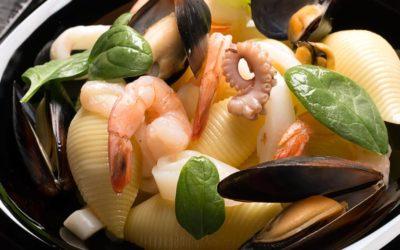 Conchiglioni  mit Meeresfrüchten