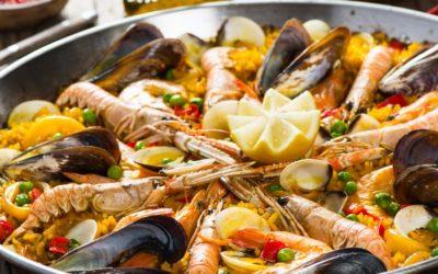 Lust auf Urlaub? Paella mit Meeresfrüchten