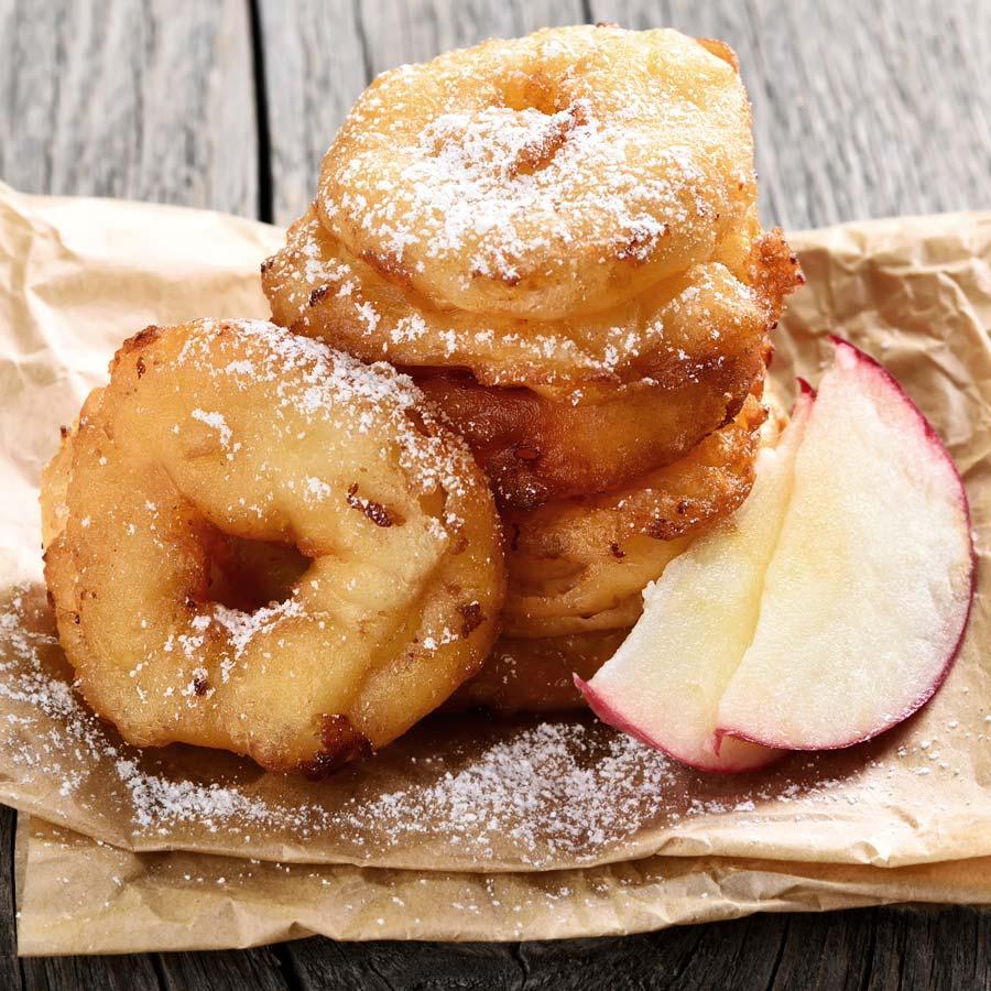 Zimt-Apfel-Ringe