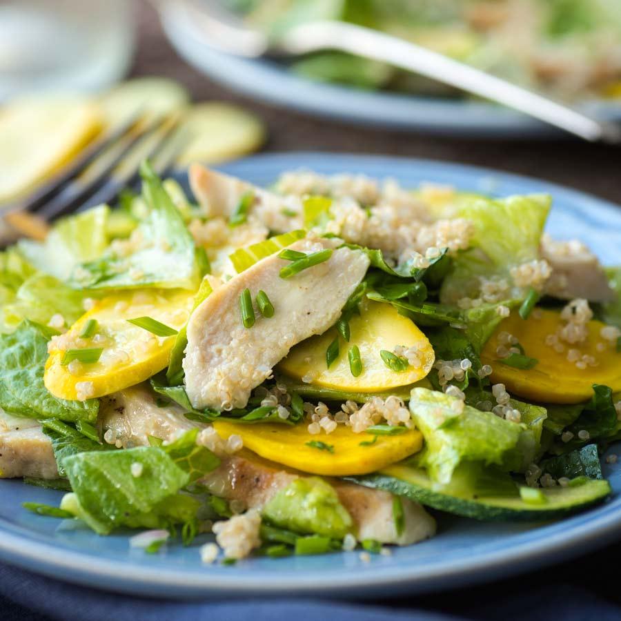 Haehnchenbrust-Zucchini-Pfanne-mit-Quinoa