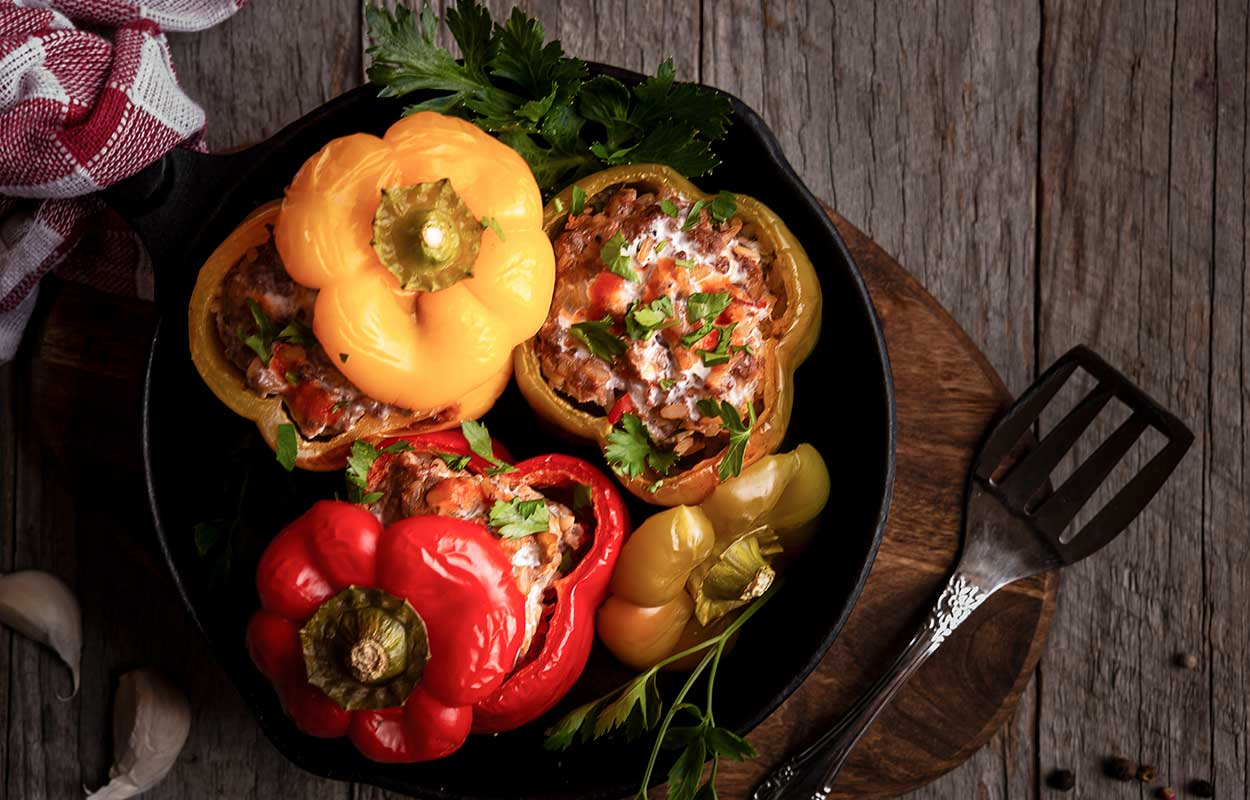 gefuellte-Paprika