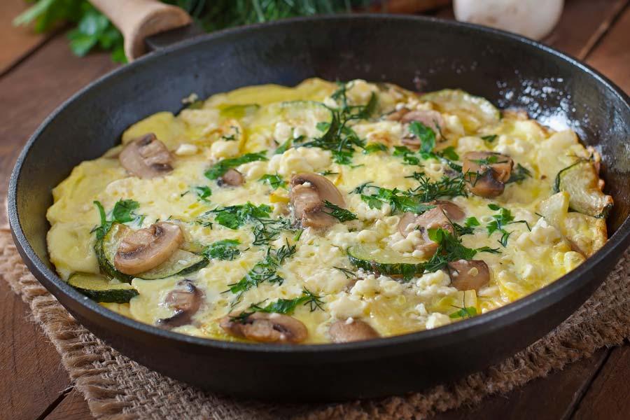 Zucchini-Pilz-Frittata