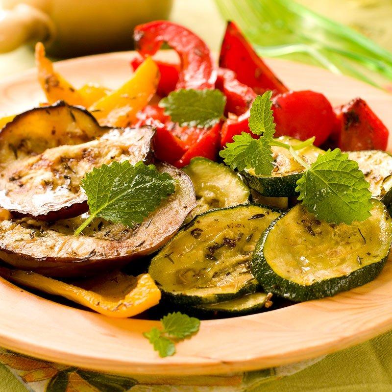 Ofengemüse mit Paprika und Aubergine
