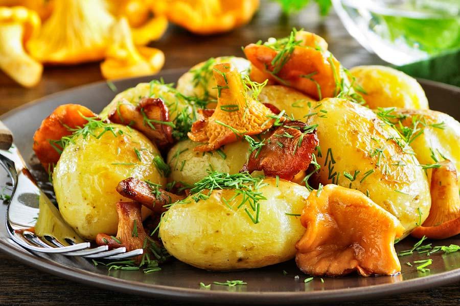 Pfifferling-Kartoffel-Pfanne