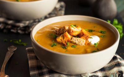 Kürbissuppe – heiß, cremig, würzig!