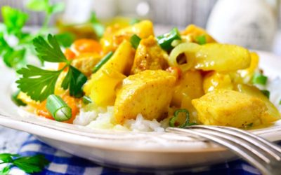 Calvados Curry Hähnchen