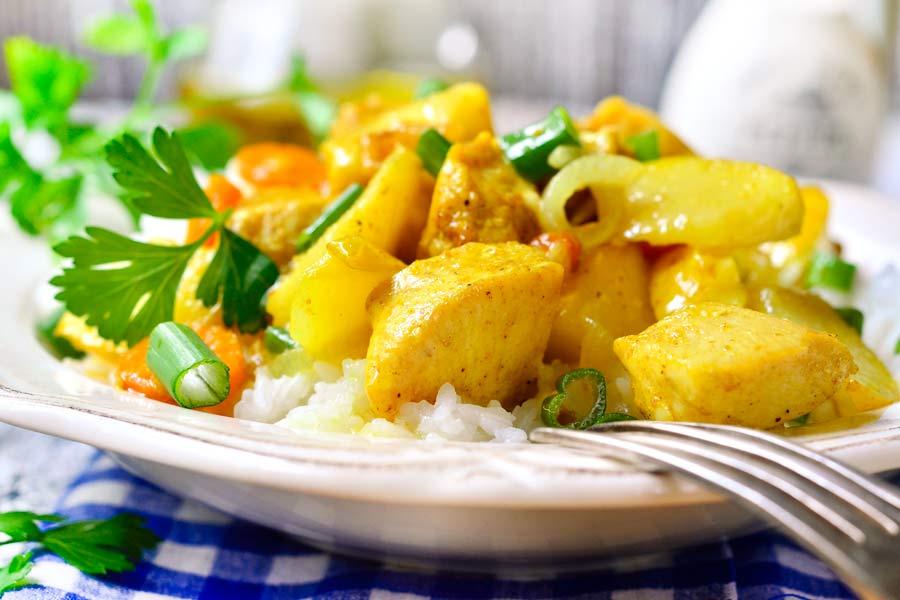 Calvados-Curry-Haehnchen