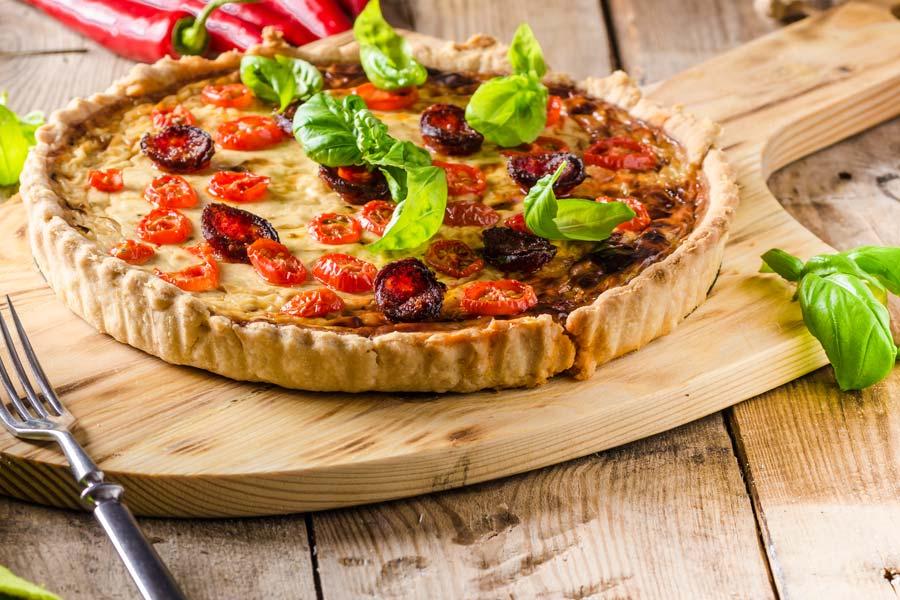 Chorizo-Tarte