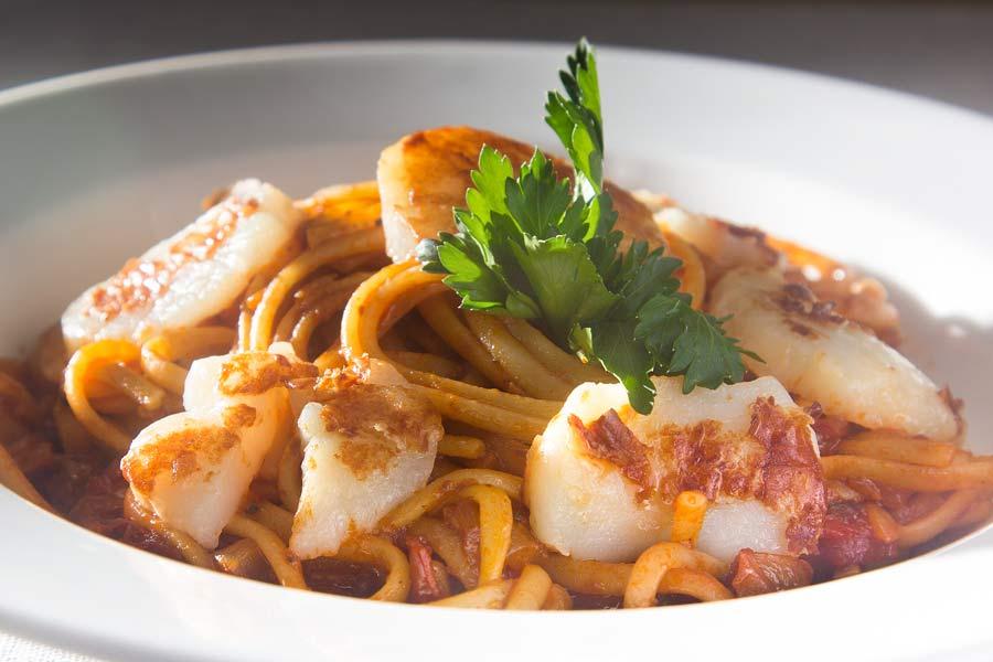Spaghetti-mit-Jakobsmuscheln