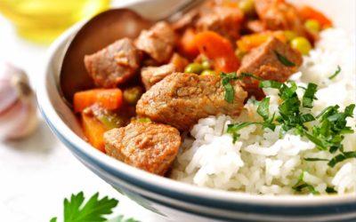 Kalbsgulasch mit Reis