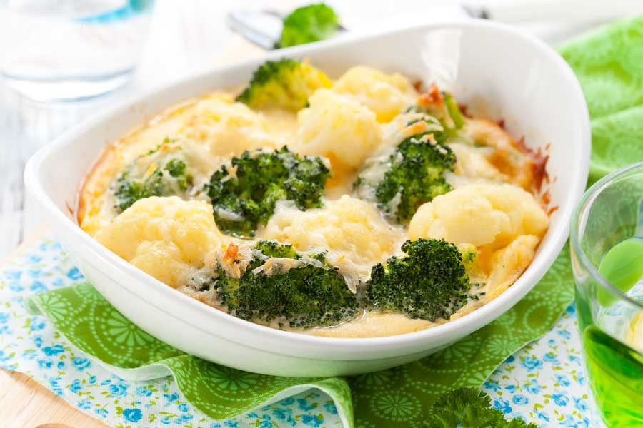 Broccoli-Blumenkohl-Gratin