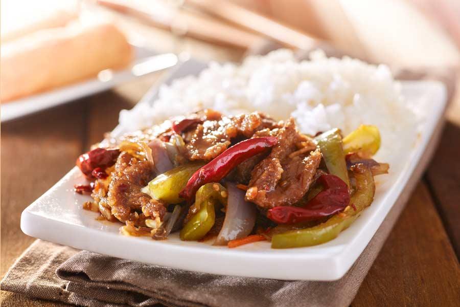 Chinesisches-Rindfleisch-Szechuan