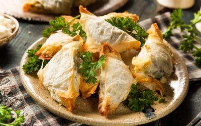 Griechischer  Spinatkuchen (Spanakopita)